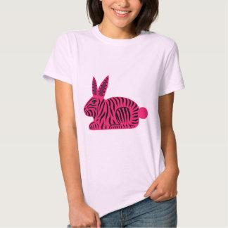 Pink Zebra Rabbit Shirt