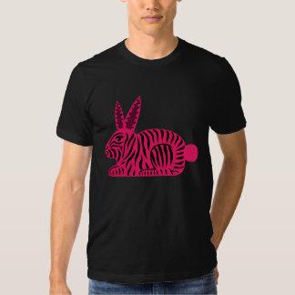 Pink Zebra Rabbit T-shirt