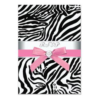 Pink Zebra RSVP Card
