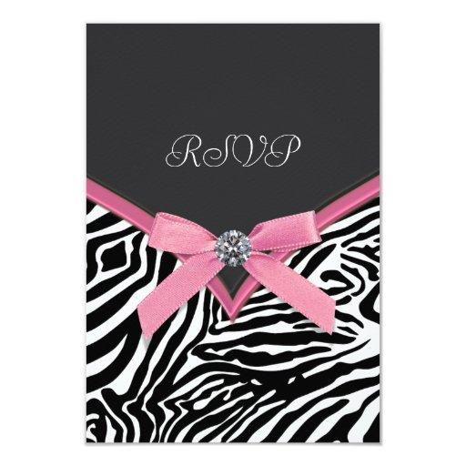 Pink Zebra RSVP Cards
