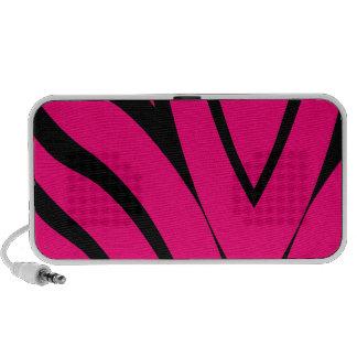 Pink Zebra iPod Speakers