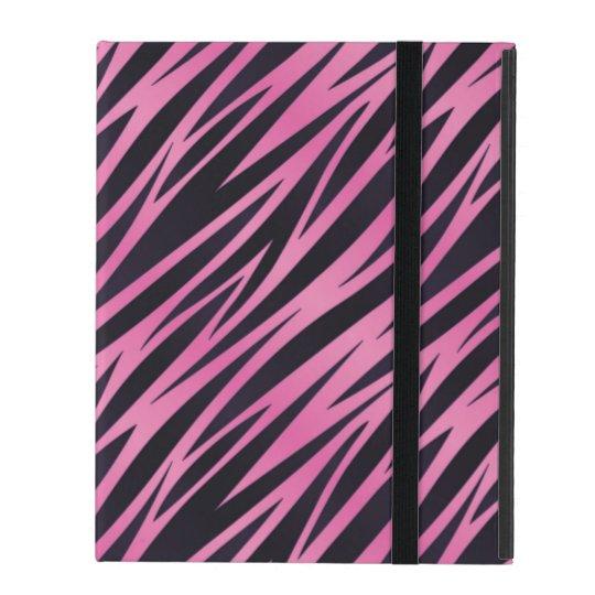 Pink Zebra Stripe Background iPad Cover