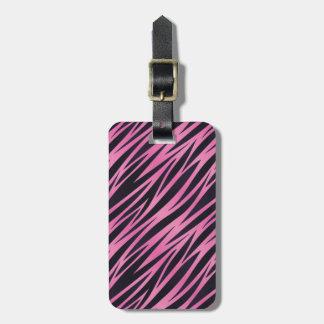 Pink Zebra Stripe Background Travel Bag Tag