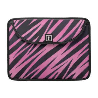 Pink Zebra Stripe Background Sleeves For MacBooks