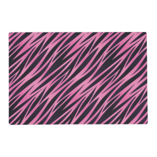Pink Zebra Stripe Background Placemat