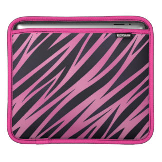 Pink Zebra Stripe Background Sleeves For iPads
