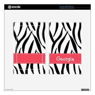 Pink Zebra Stripe Kindle Fire Skin