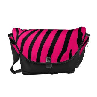Pink Zebra Stripe Messenger Bag