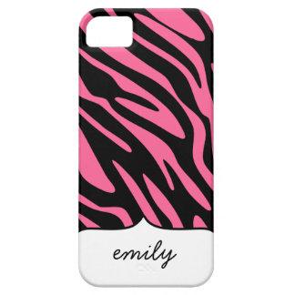 Pink Zebra Stripes Pattern iPhone SE/5/5s Case