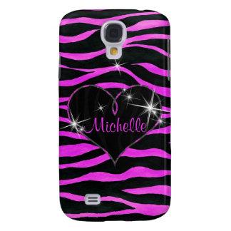 Pink Zebra Stripes Samsung Galaxy S4 Samsung Galaxy S4 Cover