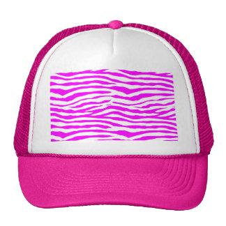 Pink Zebra Stripes Trucker Hat