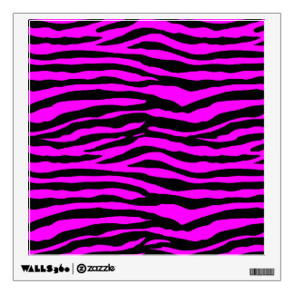 Pink Zebra Wall Decals Wall Stickers Zazzle - Zebra stripe wall decals