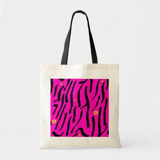 Pink Zebra Tote Budget Tote Bag