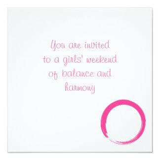 Pink Zen Symbol / Enso Circle Card