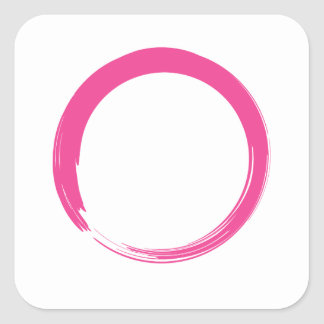 Pink Zen Symbol / Enso Circle Stickers