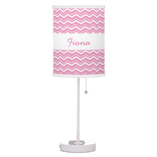 Pink Zig Zag Chevrons You Choose Custom Color A14 Table Lamp