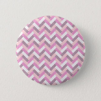 Pink Zig Zag Quilt Pattern Gifts for Her Button