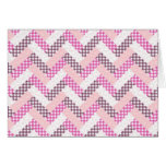 Pink Zig Zag Quilt Pattern Gifts for Her Stationery Note Card