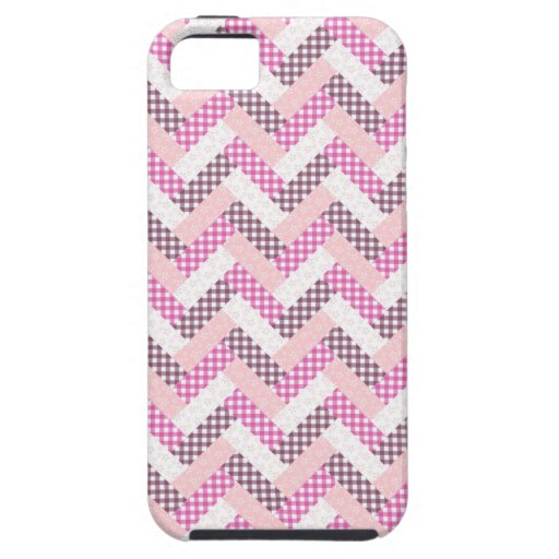 Pink Zig Zag Quilt Pattern Gifts for Her iPhone 5 Case