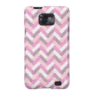 Pink Zig Zag Quilt Pattern Gifts for Her Samsung Galaxy SII Cases