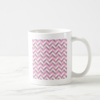 Pink Zig Zag Quilt Pattern Gifts for Her Mugs
