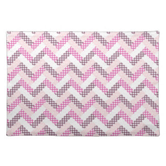 Pink Zig Zag Quilt Pattern Gifts for Her Place Mat