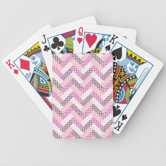 Pink Zig Zag Quilt Pattern Gifts for Her Poker Cards