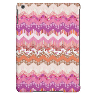 Pink zigzag background iPad air cover