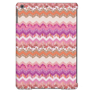 Pink zigzag background case for iPad air
