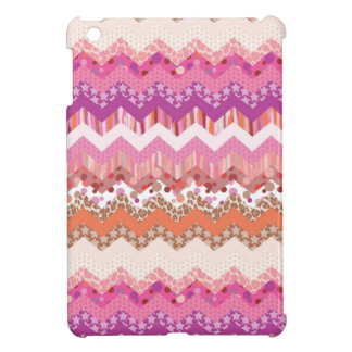 Pink zigzag background iPad mini cases