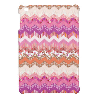 Pink zigzag background iPad mini cover
