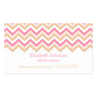 Pink Zigzag Mommy Calling Card