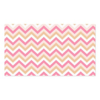 Pink Zigzag Mommy Calling Card Business Card