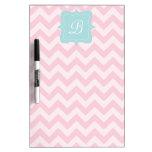 Pink Zigzag Monogram Dry-Erase Boards