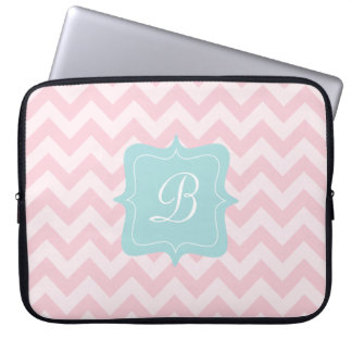 Pink Zigzag Monogram Laptop Sleeve