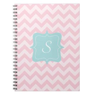 Pink Zigzag Monogram Notebook
