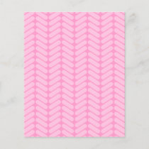 Pink Zigzag Pattern inspired by Knitting.