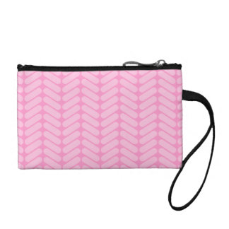 Pink Zigzag Pattern inspired by Knitting. Change Purses