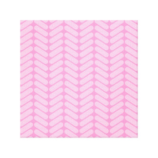 Pink Zigzag Pattern inspired by Knitting. Canvas Print