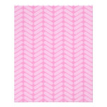 """Pink Zigzag Pattern inspired by Knitting. 4.5"""" X 5.6"""" Flyer"""