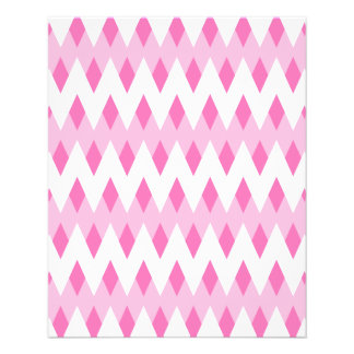 Pink Zigzag Pattern with Diamond Shapes. Flyers