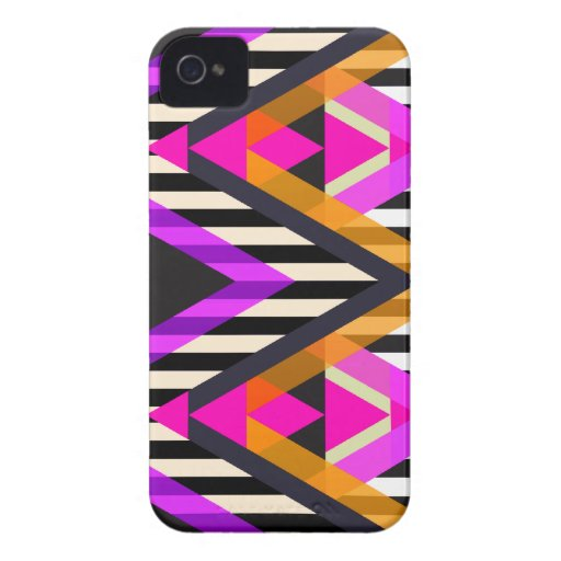 Pink Zigzag Pop Aztec Case-Mate iPhone 4 Cases