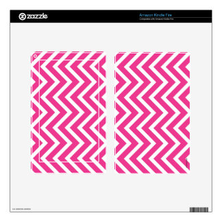Pink zigzag skin for kindle fire