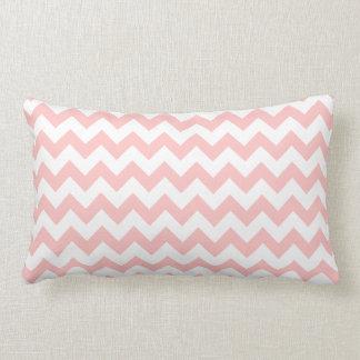 Pink Zigzag Stripes Chevron Pattern Girly Lumbar Pillow
