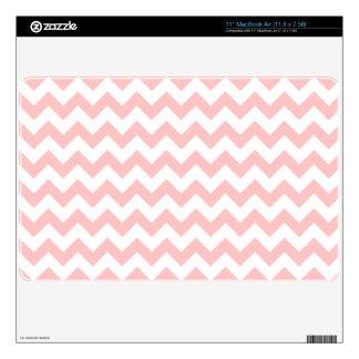 Pink Zigzag Stripes Chevron Pattern Girly MacBook Decal