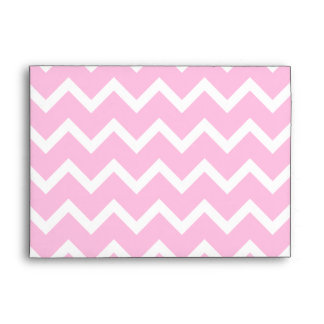 Pink Zigzags with Custom Monogram. Envelope