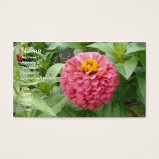 Pink Zinnia Business Card