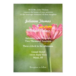 Pink Zinnia Card