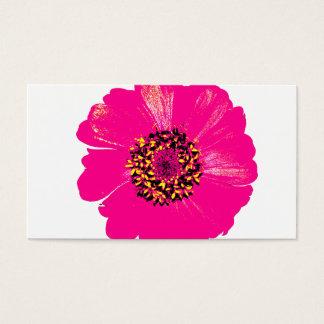 Pink Zinnia Flower Business Card