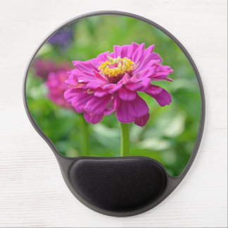 Pink zinnia flower gel mouse pad
